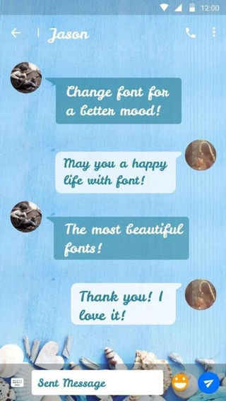 Shell (com monotype android font fontpack flipfont shell